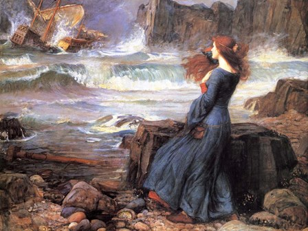 Miranda the Tempest by John William Waterhouse art print