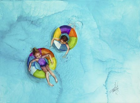 Don't Splash by Art by Leslie Franklin art print