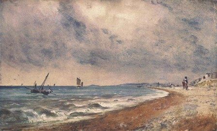 Hove Beach with Fishing Boats by John Constable art print