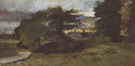 Landscape with Cottages by John Constable art print