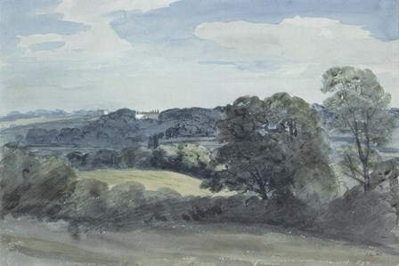 Landscape with Buildings in the Distance by John Constable art print