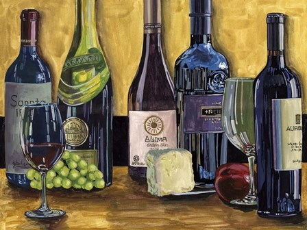 Still Life with Wine II by Melissa Wang art print