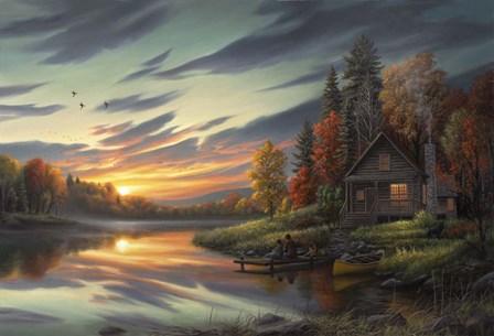 Lakeside Memories by Chuck Black art print
