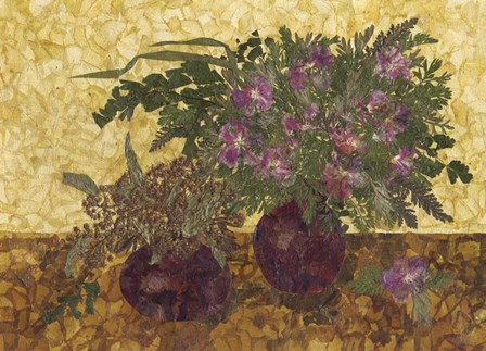 Still Life With Two Vases 1 by DryFlowersArt art print