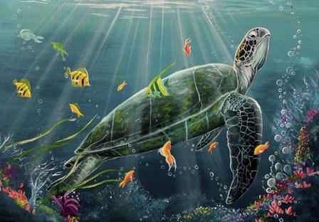 Reef Turtle by Greg Farrugia art print