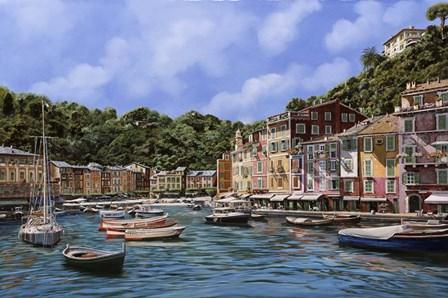 A Portofino by Guido Borelli art print