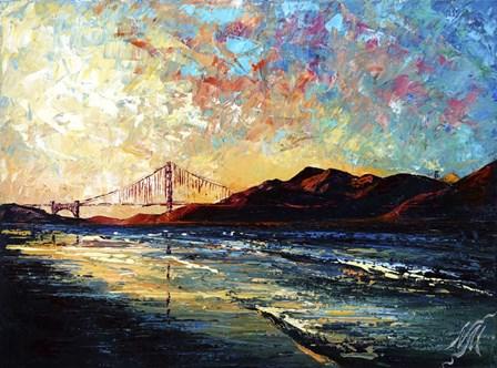 San Francisco Golden Gate Bridge by Natasha Mylius art print