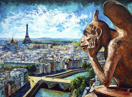 View from Notre Dame by Natasha Mylius art print