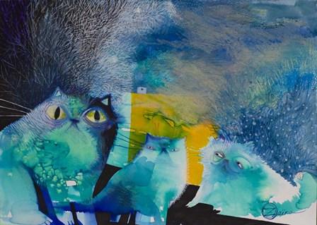 Persian Cats by Oxana Zaika art print