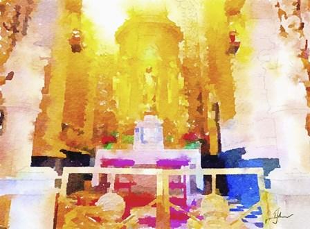 Church Interior by Pamela A. Johnson art print