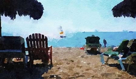 Sailboat at Late Day by Pamela A. Johnson art print