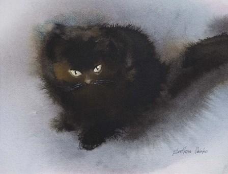 Black Kitten by Svetlana Orinko art print