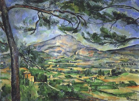 Mont Sainte-Victoire with Large Pine Tree by Paul Cezanne art print