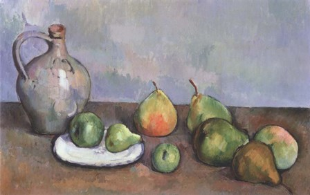 Still Life with Pitcher and Fruit by Paul Cezanne art print