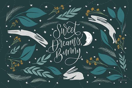 Sweet Dreams Bunny I by Becky Thorns art print