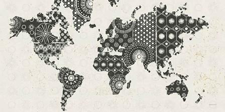Kami Map - No Border by Kathrine Lovell art print