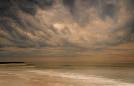 Stormy Seascape at Sunrise, Cape May National Seashore, NJ by Jaynes Gallery / Danita Delimont art print