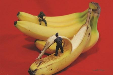 Army Going Bananas by Gareth McGorman art print