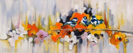 Trio with Poppies by Stephanie Aguilar art print