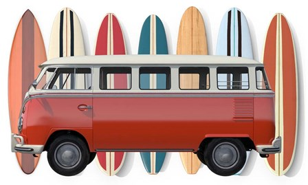 Surfer Van by Edward M. Fielding art print