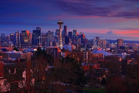 Sunset Seattle by Randall J. art print