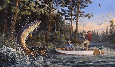 Great Muskie Moments by Terry Doughty art print