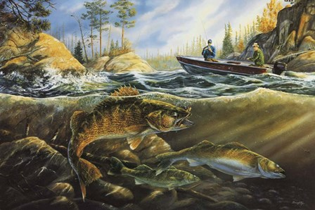 Fishing The Narrows by Terry Doughty art print
