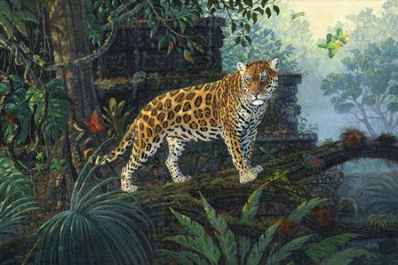 The Guardian Jaguar by Terry Doughty art print