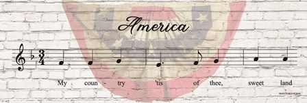 America Sheet Music by Front Porch Pickins art print