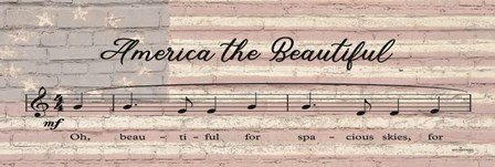 America the Beautiful Sheet Music by Front Porch Pickins art print