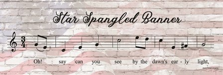 Star Spangled Banner Sheet Music by Front Porch Pickins art print