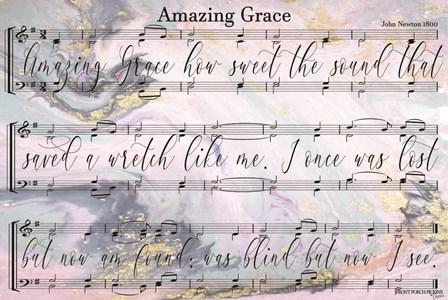 Amazing Grace Lyrics by Front Porch Pickins art print