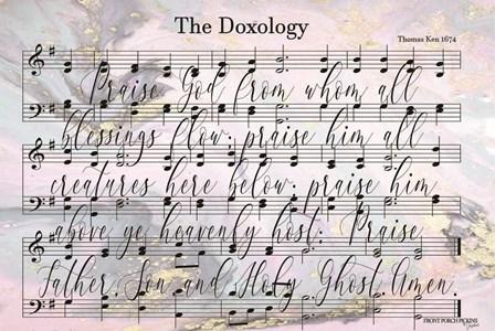 The Doxology Lyrics by Front Porch Pickins art print
