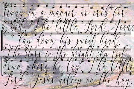Away in the Manager Lyrics by Front Porch Pickins art print