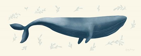 Ocean Life Whale by Becky Thorns art print