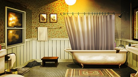 Bathroom by A.V. Art art print