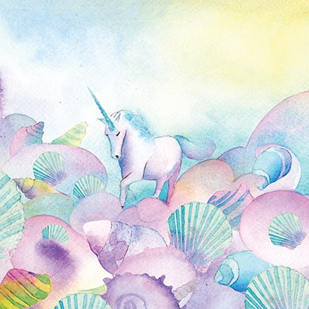 Unicorn Mother of Pearl by A.V. Art art print