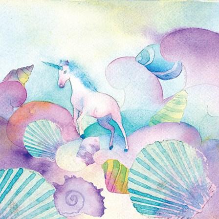 Unicorn Shells by A.V. Art art print
