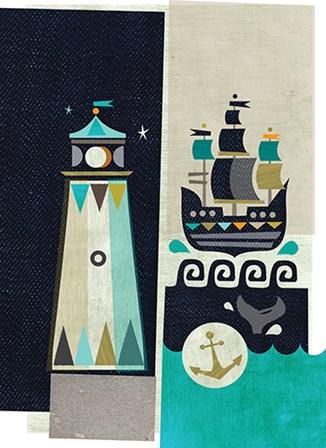 Lighthouse by A.V. Art art print