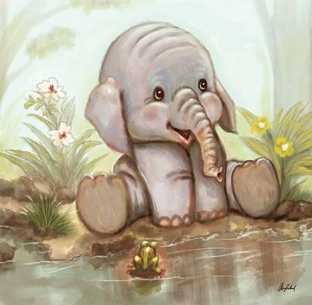 Baby Elephant by A.V. Art art print