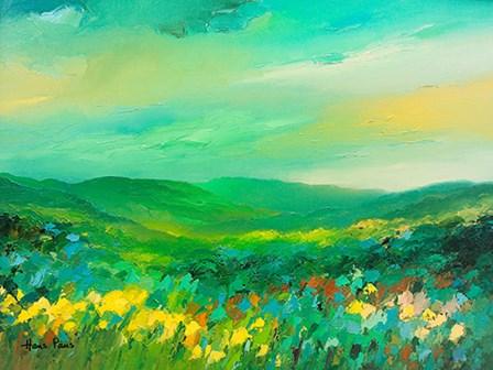 Green Landscape by A.V. Art art print