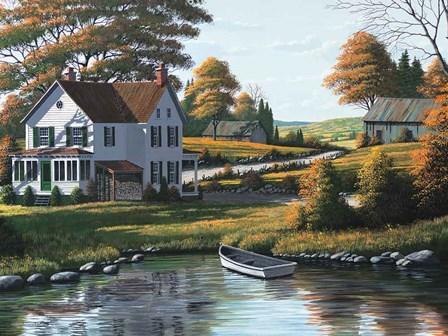 Along the Riverbank by Bill Saunders art print
