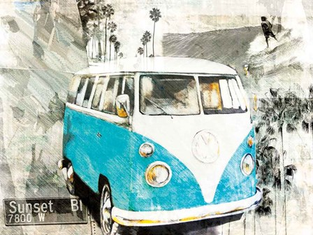 Hippie Van by Bresso Sola art print