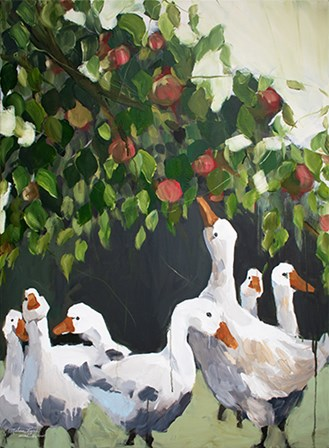 Apples and Ducks by Melissa Lyons art print