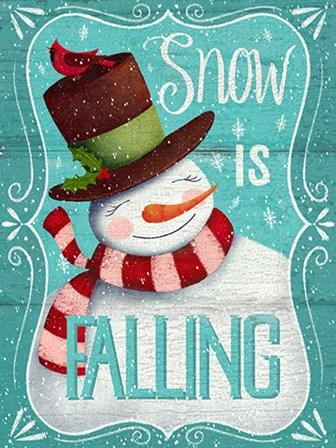 Snow is Falling by P.S. Art Studios art print