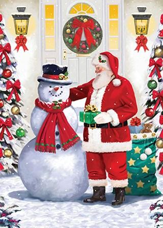 Santa and Friend by P.S. Art Studios art print