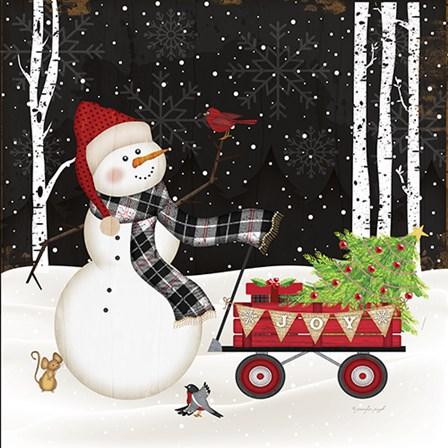 Joy Snowman by Jennifer Pugh art print