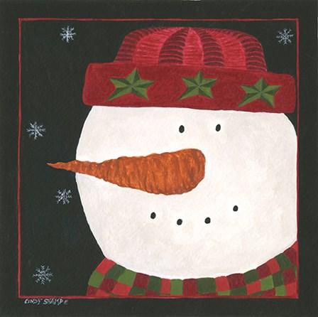 Snowman I by Cindy Shamp art print