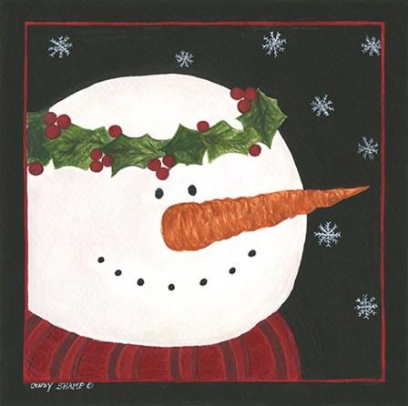 Snowman II by Cindy Shamp art print