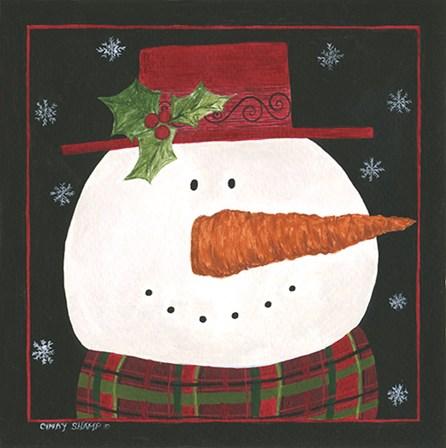 Snowman IV by Cindy Shamp art print